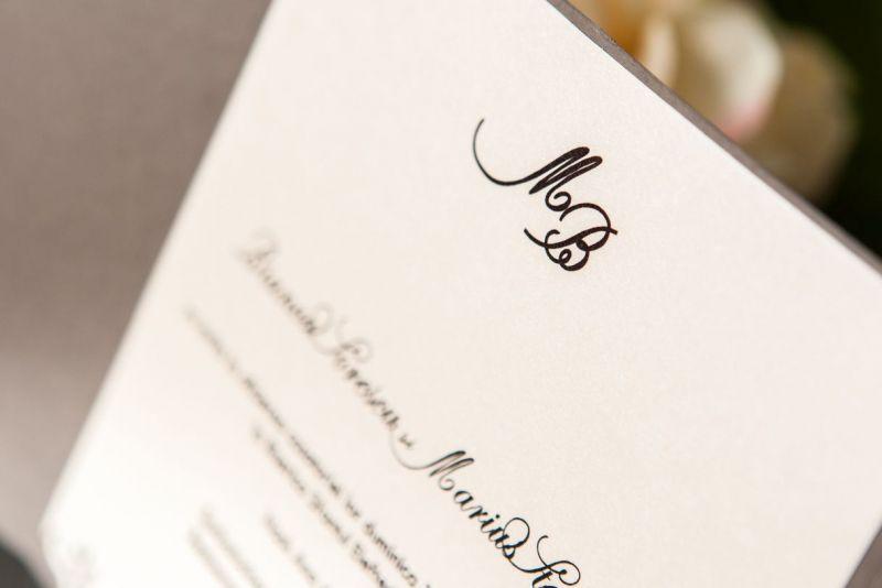 Invitatie nunta cu sigiliu trandafir ivoire - poza 4