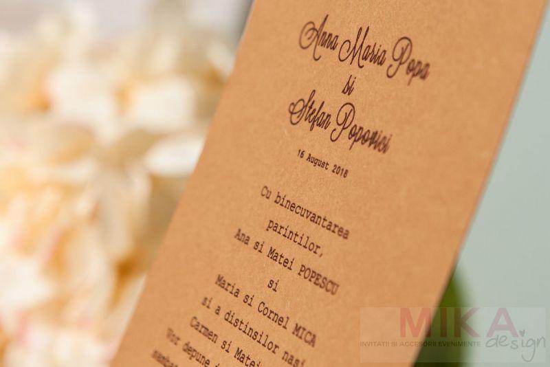Invitatie nunta eleganta cu dantela - poza 4