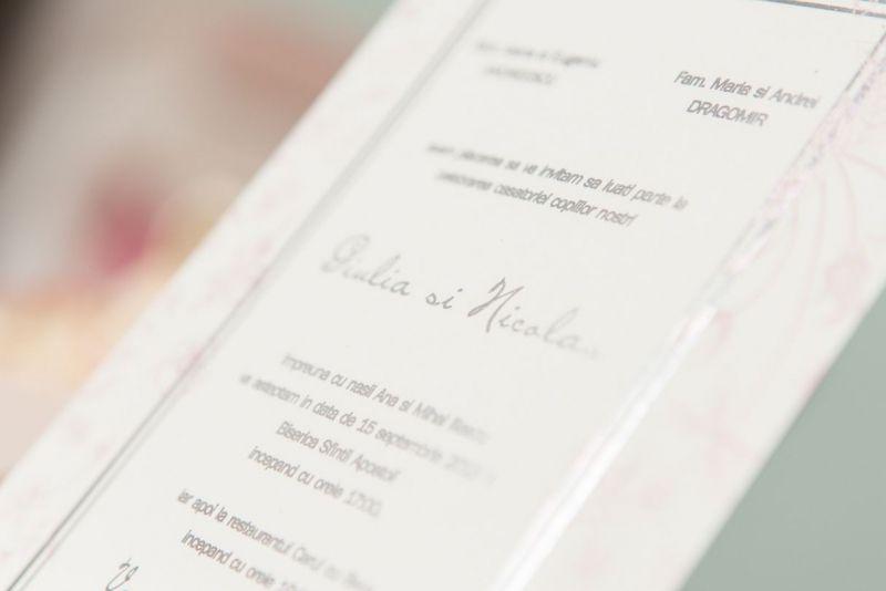 Invitatie nunta vintage cu trandafiri - poza 4