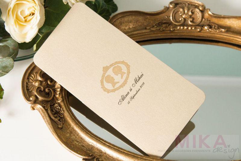 Invitatie vintage eleganta - poza 3