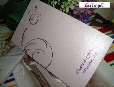 Meniu nunta sau botez, design elegant cu lila - poza 1