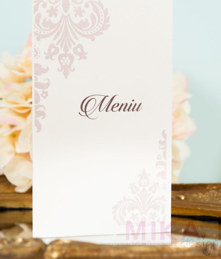Meniu nunta elegant ivory - poza 2