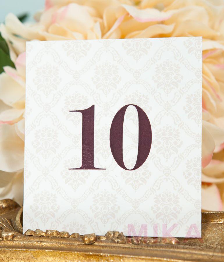 Numar masa nunta damask crem - poza 1