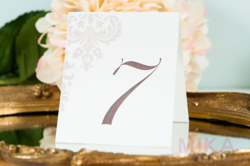Numar masa nunta elegant - poza 1