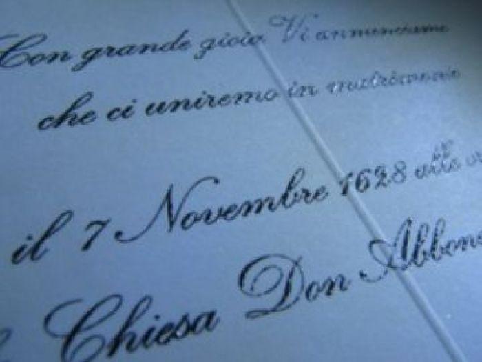 Personalizare invitatie nunta cu textul in termorelief - poza 1