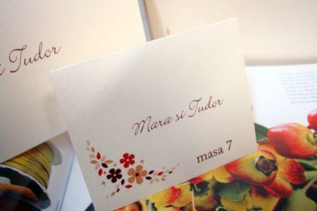 card masa cu tematica rustica