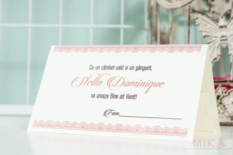 Plic bani botez design roz - poza 1