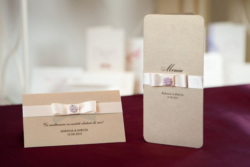 Plic bani nunta auriu elegant - poza 2