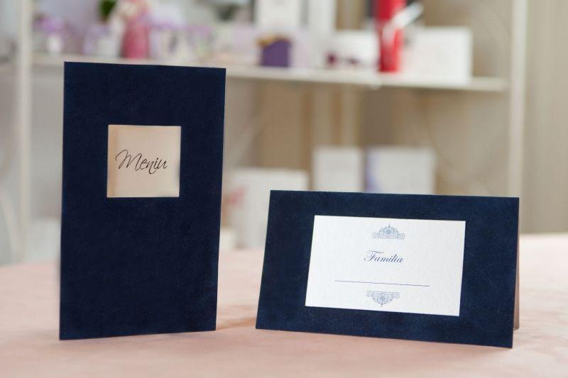 Plic bani nunta catifea albastra - poza 2