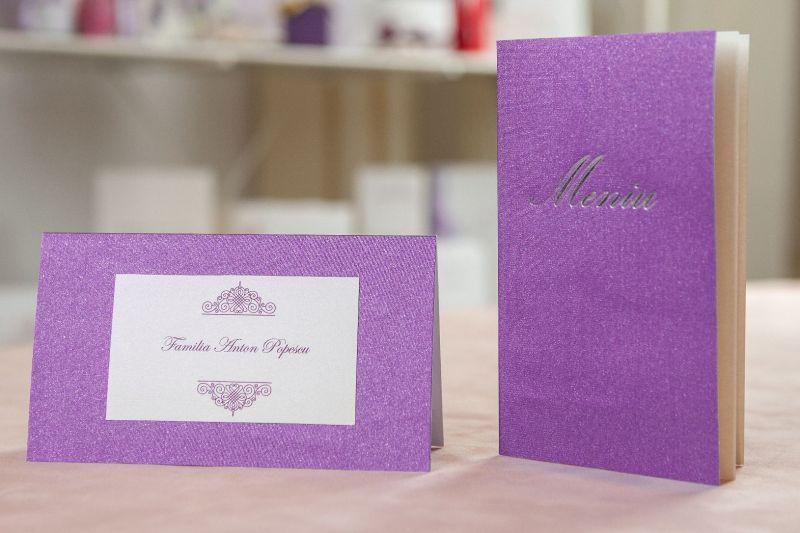 Plic bani nunta matase lila-mov - poza 2