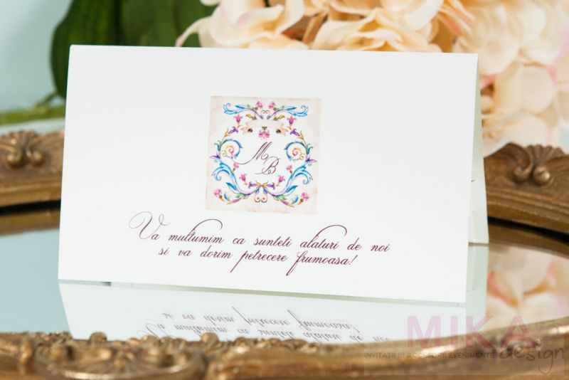 Plic bani nunta monograma venetiana - poza 1