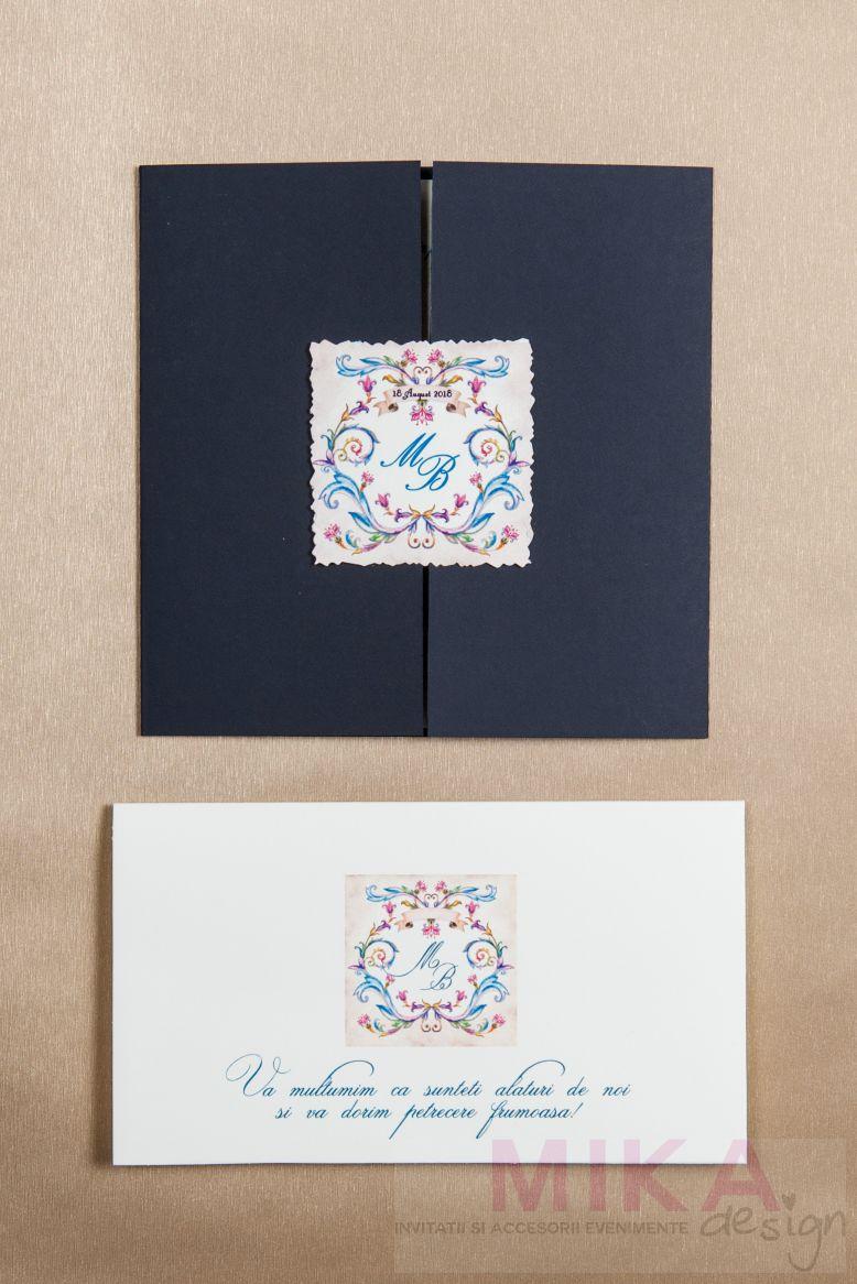 Plic bani nunta monograma venetiana - poza 3