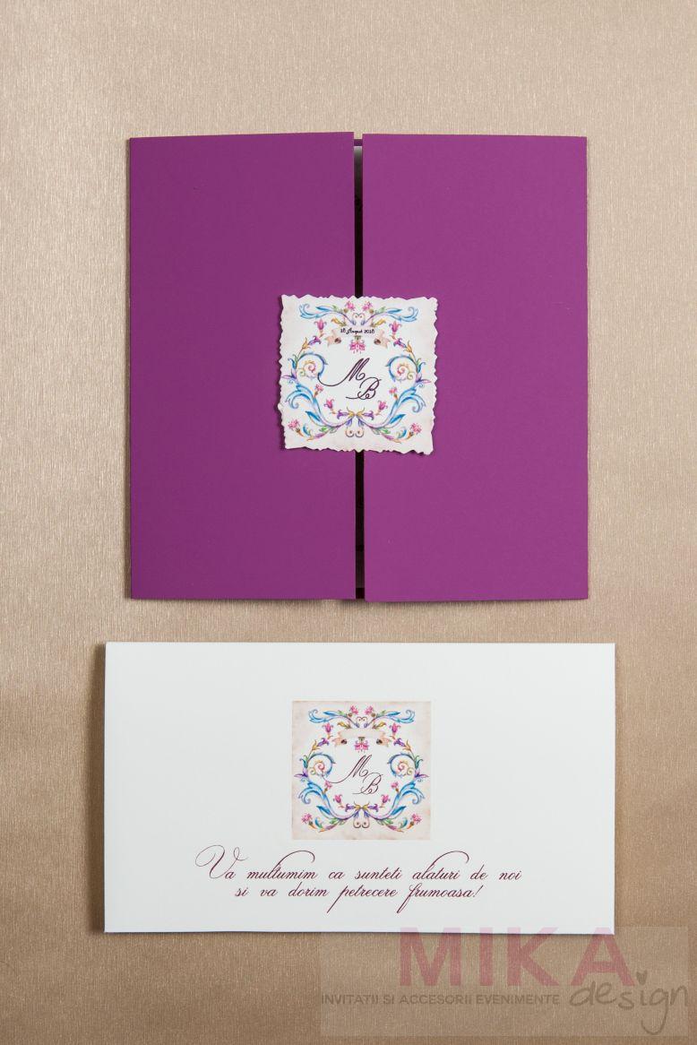 Plic bani nunta monograma venetiana - poza 2