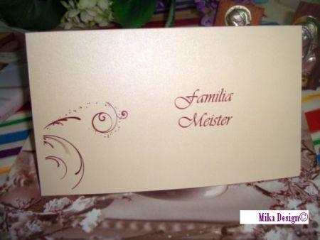 Card bani nunta din carton lila - poza 1
