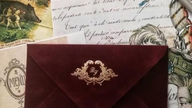 Plic catifea invitatii nunta